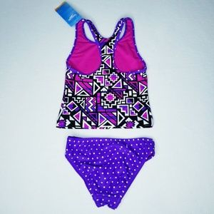 Speedo Swim - Speedo Girls' Mixed Print Tankini Set - NWT
